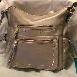 Handbags - Silver Sorentino Cross Body/Shoulder Bag